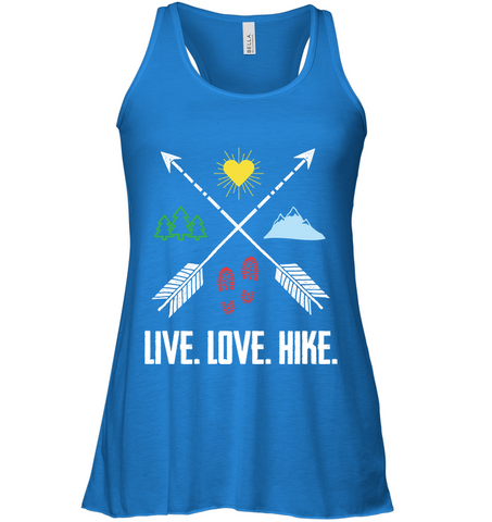 Live, Love, Hike - Bella Women's Flowy Tank Top (100% Made In The USA)