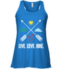 Image of Live, Love, Hike - Bella Women's Flowy Tank Top (100% Made In The USA)
