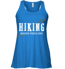 Hiking Because People Suck - Bella Women's Flowy Tank Top (100% Made In The USA)