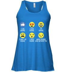Bella Women's Flowy Tank Top - Hiking Emoji - (100% made in the USA)