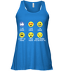 Image of Bella Women's Flowy Tank Top - Hiking Emoji - (100% made in the USA)