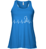 Image of Bella Women's Flowy Tank Top - Heart Beat Collection - (100% Made in the USA)