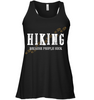 Image of Hiking Because People Suck - Bella Women's Flowy Tank Top (100% Made In The USA)