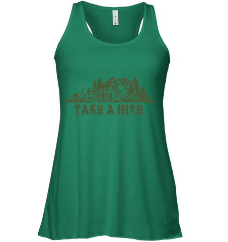 Take A Hike - Bella Women's Flowy Tank Top (100% Made In The USA)