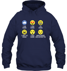 Gilden Hoodie Hiking Emoji - (100% made in the USA)
