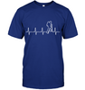 Image of Hanes Heart Beat T Shirt -  The Heart Beat Collection (100% MADE IN THE USA)