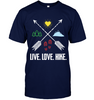Image of Hanes Tagless T-Shirt - Live, Love, Hike Collection (100% USA MADE)