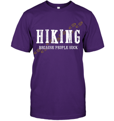 Hanes Tagless T shirt - Hiking Because People Suck Collection (100% made in the USA)
