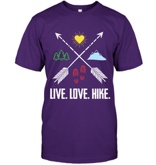 Hanes Tagless T-Shirt - Live, Love, Hike Collection (100% USA MADE)