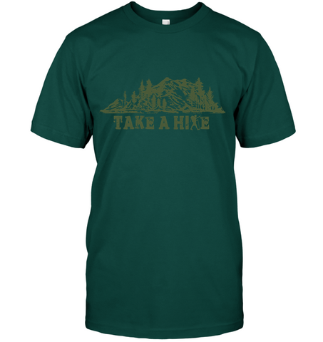 Hanes Take A Hike T shirt - (100% Made In The USA)