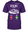 Image of Hanes Tagless T shirt - Hiking Is Calling Collection (100 made in the USA)