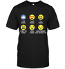 Image of Hanes Tag FREE Hiking emoji T Shirt - (100% made in the USA)