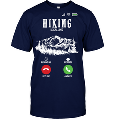 Hanes Tagless T shirt - Hiking Is Calling Collection (100 made in the USA)