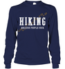 Image of Hanes Tagless Long Sleeve T shirt - Hiking Because People Suck Collection (100 made in the USA)