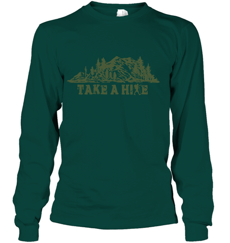 Hanes Take A Hike Long Sleeve T - Shirt - (100% Made In The USA)