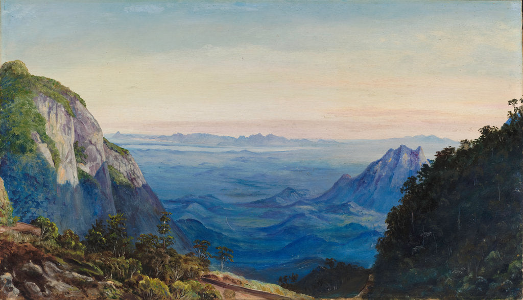 Detail of 75. View from the Sierra of Petropolis, Brazil, 1880 by Marianne North