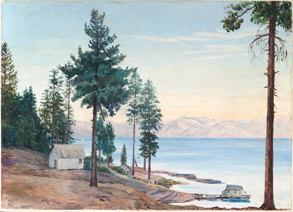 Detail of 195. A view of Lake Tahoe and Nevada mountains, California, 1875 by Marianne North