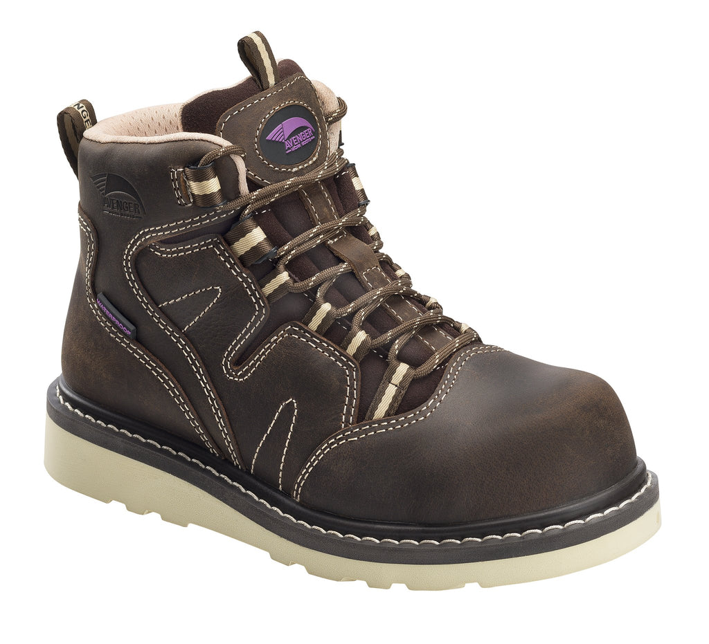 Avenger 7550 Women's Wedge Carbon Toe Work Boots