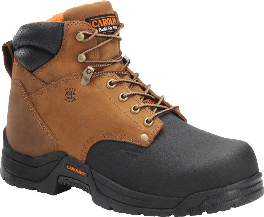 "Carolina 5582 6"" Internal Metguard Men's Boots Copper Crazy Horse Leather"