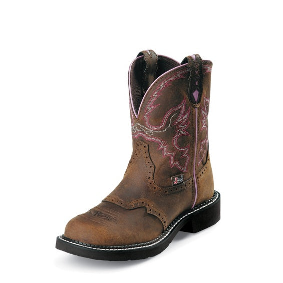 Quad City Safety Boots WKL9980 Women's Aged Bark Justin Gypsy® Steel Toe Work Boots