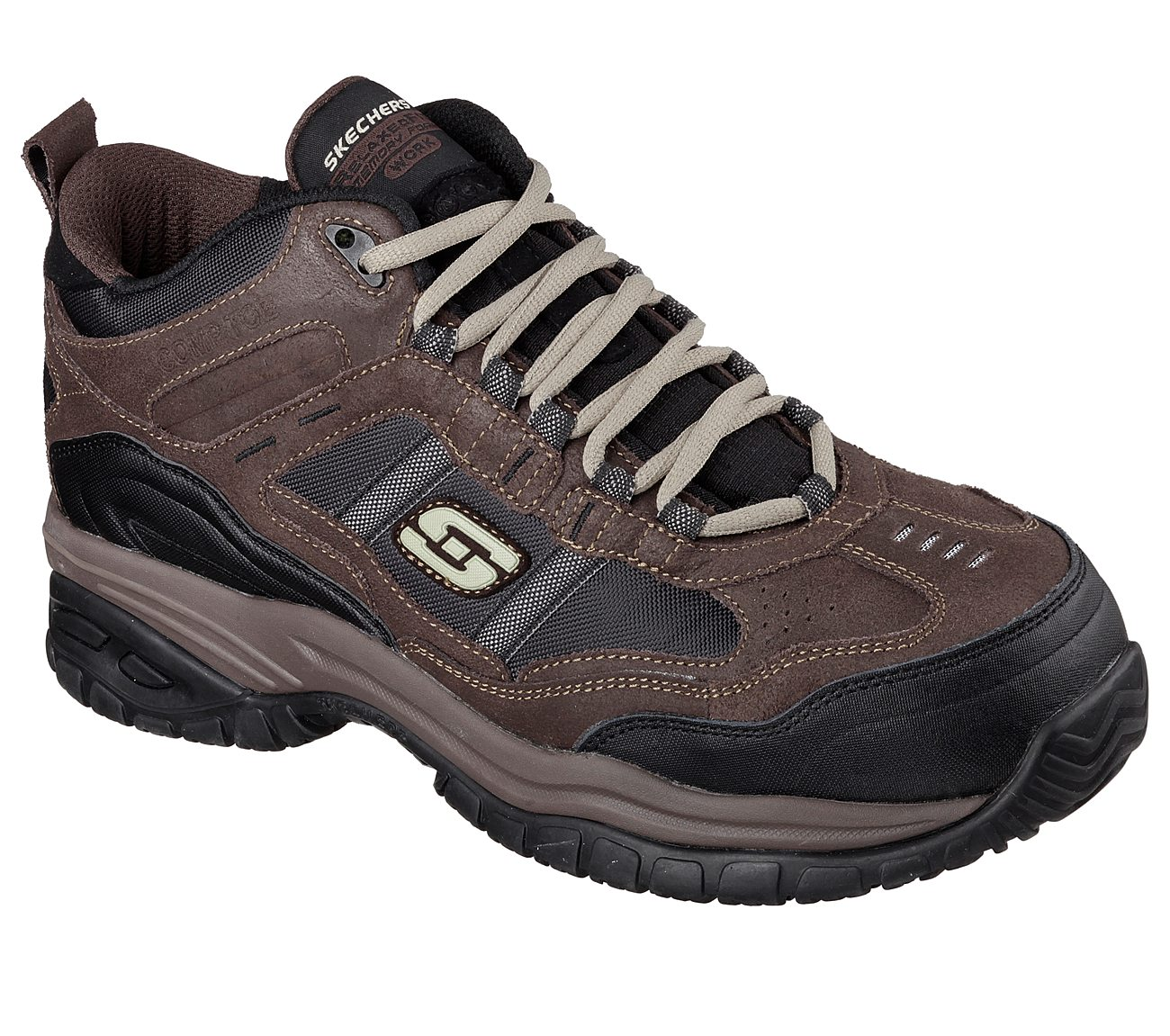 9909fec65007 Quad City Safety Boots 77027 Men s Relaxed Fit  Soft Stride Work Shoes   Skechers 77027 Relaxed ...