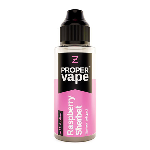 Raspberry Sherbet 100ml Shortfill by Proper Vape E-liquid by Proper Vape - Vapour Generation | Electronic Cigarette & E-liquid Specialist | Kingswood & Keynsham, Bristol