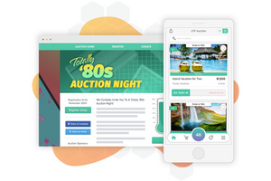Maximize virtual and in-person fundraising auctions.