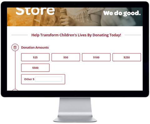 Give Back Nation GivingStore Donate Page