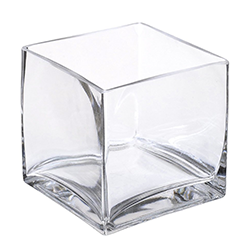 wedding centerpiece vase clear cube