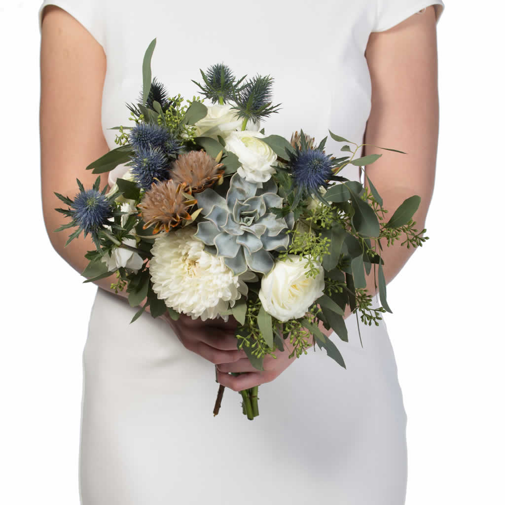 Misty Blue Bridal Bouquet