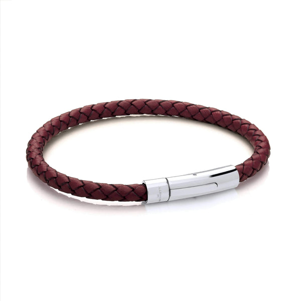 Brown Cord & Stainless Steel Clasp - Leather Bracelet