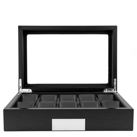 10 Piece Kennett Carbon Fibre Watch Box - Gloss Finish