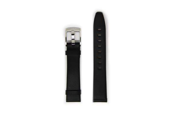Ladies Leather Watch Strap - Silver Buckle With No Stitching