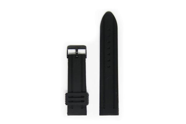 Valour Rubber Watch Strap - Black Buckle