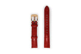 Ladies Red Leather Watch Strap with Gold Buckle