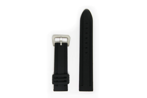 Valour Rubber Watch Strap - Silver Buckle