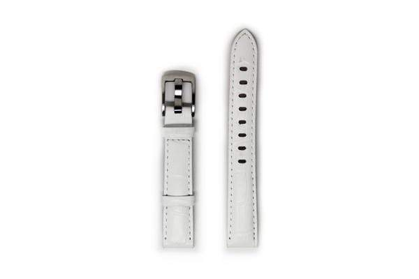 Ladies Leather Watch Strap - Silver Buckle