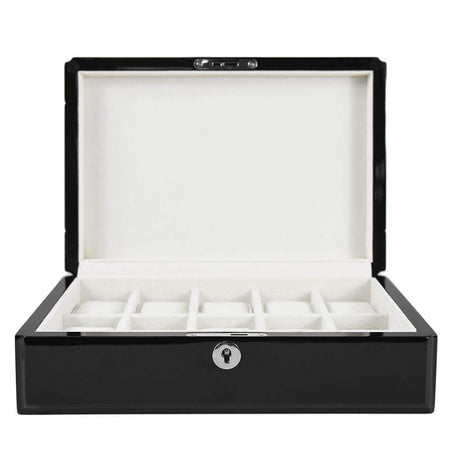 3 Piece Kennett Watch Box Roll - Carbon Fibre Finish