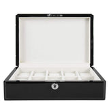Kennett 10 pc watch box black gloss wood