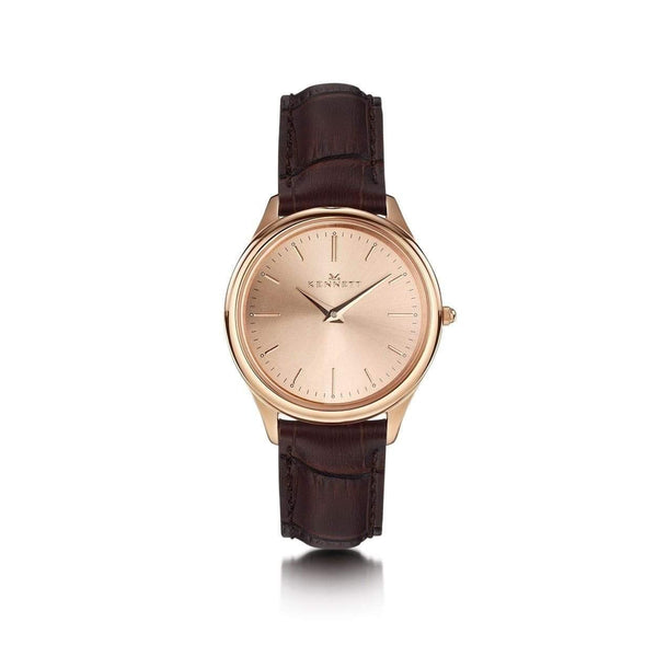 Kennett Kensington Ladies watch Rose Gold Brown leather strap