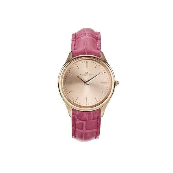 Kennett Kensington Ladies watch Rose Gold hot pink leather strap