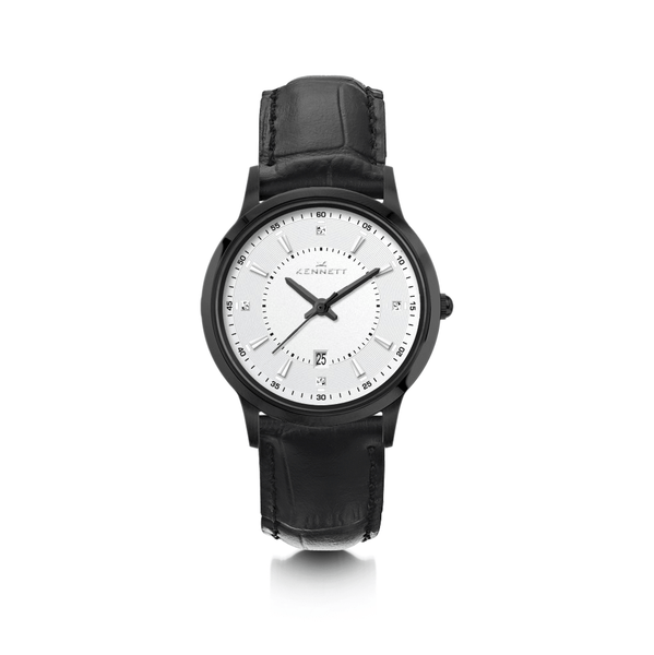 Kennett Lady Carnaby Black Watch Leather Strap