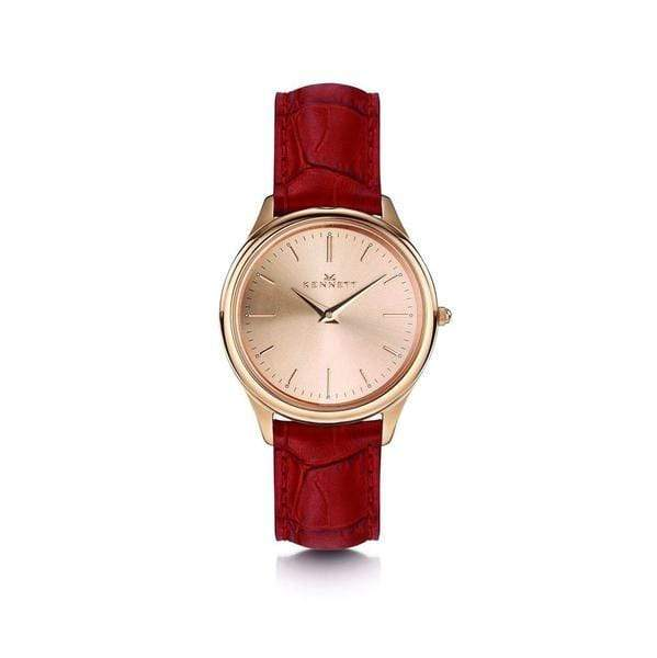 Red Kennett Kensington Womens watch Rose Gold Red leather strap