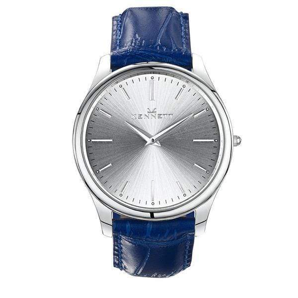 Unisex Kennett Kensington watch with sunray dial and royal blue leather strap