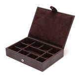 Wolf - Blake Collection - Cufflink/Tie Bar Box Brown