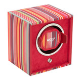 Wolf - Howard Stripe Cub - Single Watch Winder - Red