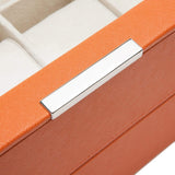 Wolf - Stackable Watch Tray - Set of 2 - 6 Piece Watch Trays Orange