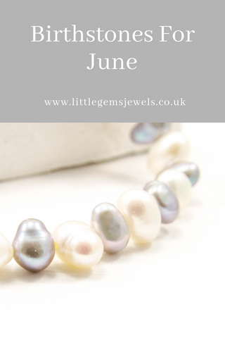 Birthstones For June Image Of Grey & White Pearl String