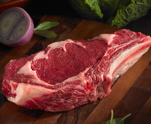 BISON 16OZ  RIB STEAK  4X 16OZ (4LBS)