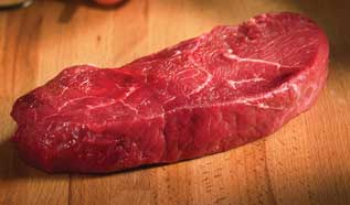 BISON TOP SIRLOIN STEAKS  8 X 6oz (3lbs)